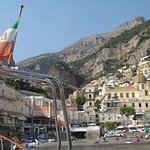 Positano from the boat trip..