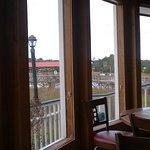 Huge windows overlooking the water