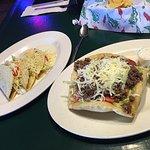 Tacos and taco salad.