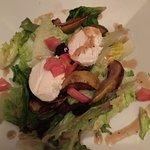 Roasted Pear salad with home made mozzarella