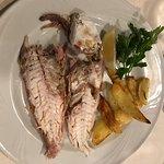 Salmonete a la Sal y Pannacotta. Ticket de una cena individual.