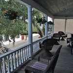 The veranda of the Southern Wind B&B