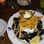 PEI mussels Normandine with frites