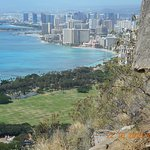 Looking back at Waikiki from WW2 bunker Diamond Head