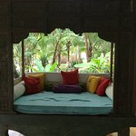 Beautiful daybed when one needs a break during yoga