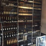 The great wall of wine. Viewed from the mezzanine