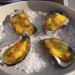 Sydney Rock Oysters with mango chutney