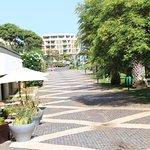 Hotel restaurant sidewalk