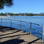 Tallebudgera Creek on return walk nearing holiday park on thed left