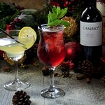 Enjoy Winter Cocktails or a glass of wine.