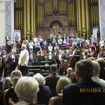 Standing ovation after the concert