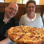 Hungry for Pizza? Hometown Pizza is the place to be! Look at that PIZZA!!