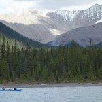 Canoeing Maligne Lake
