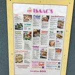 Isaac's - menu outside