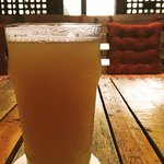White IPA in the Fireplace Room (perfect spot in the winter or summer!)