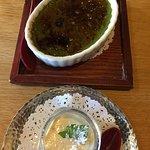 Matcha Creme Brulee $5 and Hoji cha Pudding $6-both Excellent