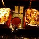 Breakfast buffet (cheese blintzes)