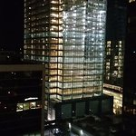 room 1209; empty lit up glass building; kinda coo!