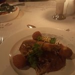 Crispy deboned duck and potato croquettes served with Quince sauce