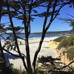 The white sand of Carmel Beach.