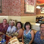 Gals at Polly's Pies ready to eat!