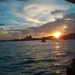 Magico tramonto sulla laguan