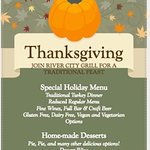 WE WILL BE OPEN FOR THANKSGIVING DINNER FROM 3PM-8PM