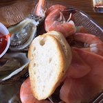 Brunch -oysters, shrimp and smoked salmon