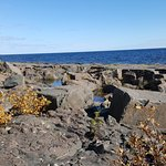 Tide pools in the rocks at Lake Superior, MN