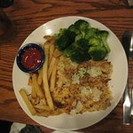 Cheese-and-crumb covered tilapia at Red Lobster in Barrie.