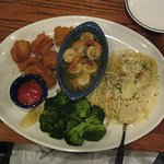 Seaside shrimp trio with brocolli at Red Lobster, Barrie. Delicious!