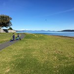Walking track around lake taupo