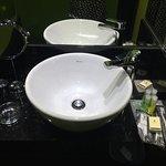 Complete bathroom amenities.