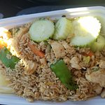 Very tasteful chicken thai fried rice! A must try!