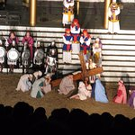 Jesus with cross in Great Passion Play
