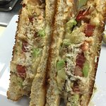Grilled Crab Avocado Melt