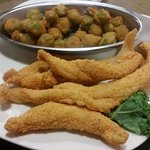 Catfish & fried okra