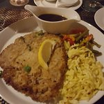Saturday night veal schnitzel special with side of spatzle