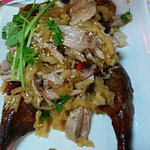 duck meat with jelly fish