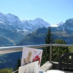 View on Terrace of Hotel Edelweiss Restaurant