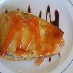 berenjena con queso y mouse de pato