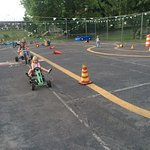 Pedal cars, push buggies, bean bag toss, ball toss, checkers, and more.