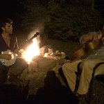 Sing along around the campfire, bring your instrunments. Several campfire areas around the prope