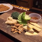 The cheese plate was perfect at happy hour prices (half off). Local cheeses made to perfection.