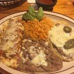 Cheese Enchilada, Bean & Cheese Huarache