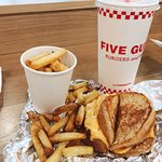 Grilled cheese, small fries & regular drink.