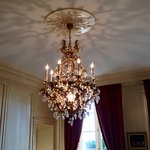 Chandelier inside the Chateau de La Dauphine