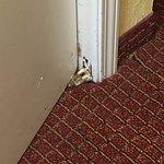 Closet door hinge.