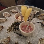 Fresh assorted oysters
