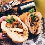 ALL TIME FAV Banh Mi (Lemongrass toufu with mushrooms, vegetarian option)